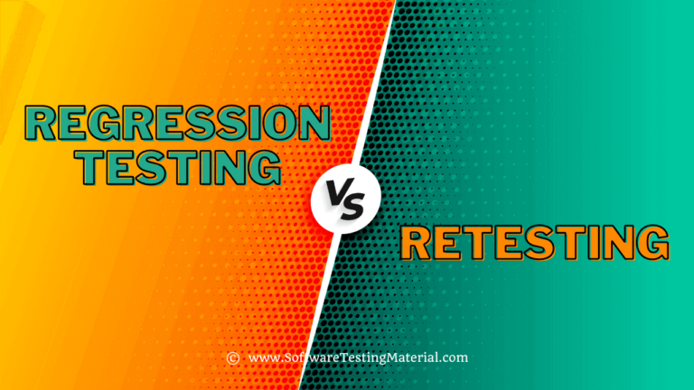 What is the difference between Regression And Retesting