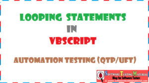 looping statements vbscript