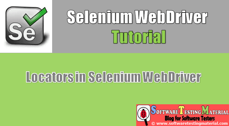 Locators in Selenium WebDriver