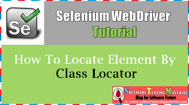 How to locate element by class name locator