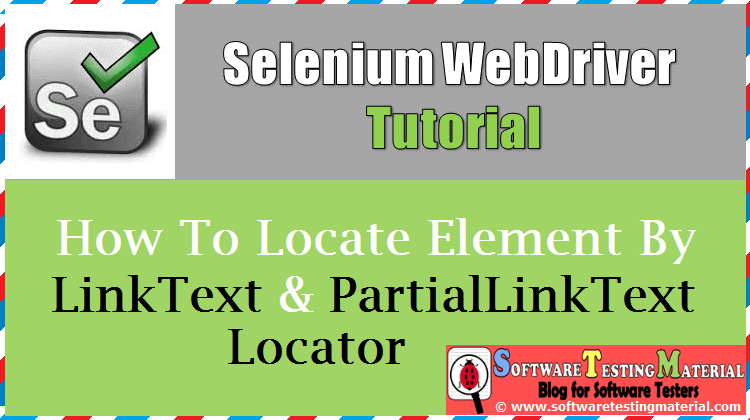 How To Locate Element By Link Text And Partial Link Text Locators