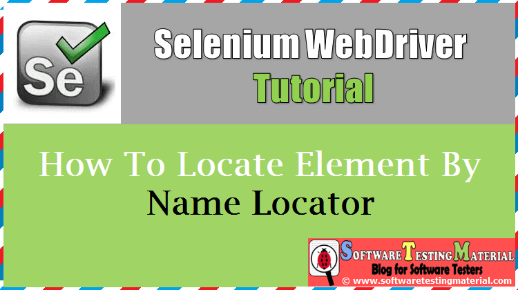 How to locate element by name locator