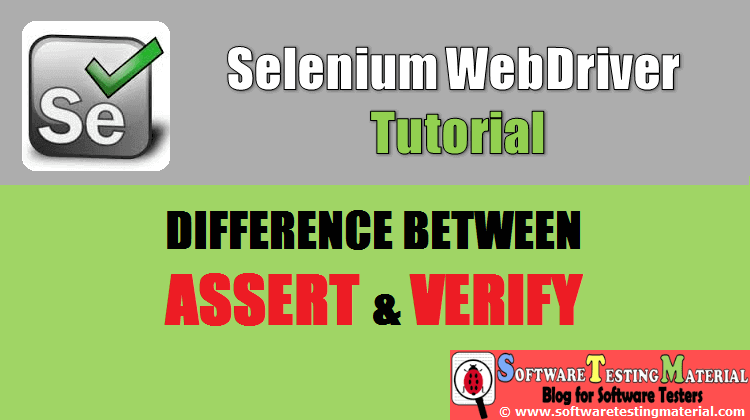 What Is The Difference Between Assert And Verify In Selenium
