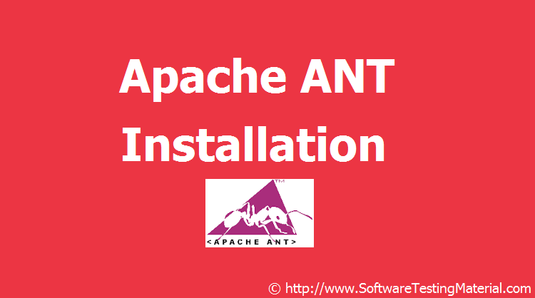 How to Download and Install Apache ANT | Software Testing Material