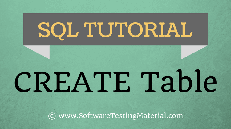 SQL Create Table