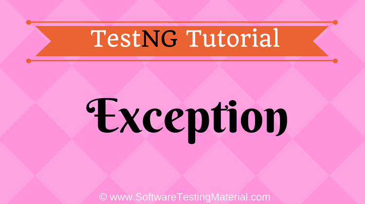 TestNG Exception