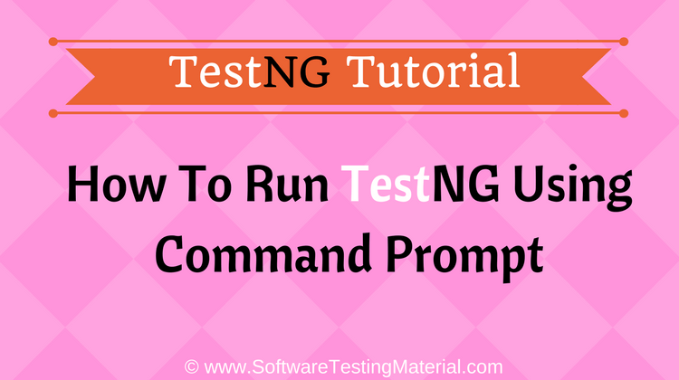 TestNG using command prompt