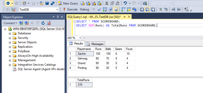 SQL Aggregate Functions Sum
