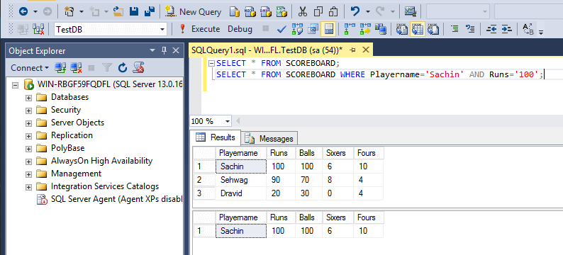 SQL And