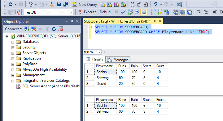 SQL Like Operator With Wildcard At The Begining