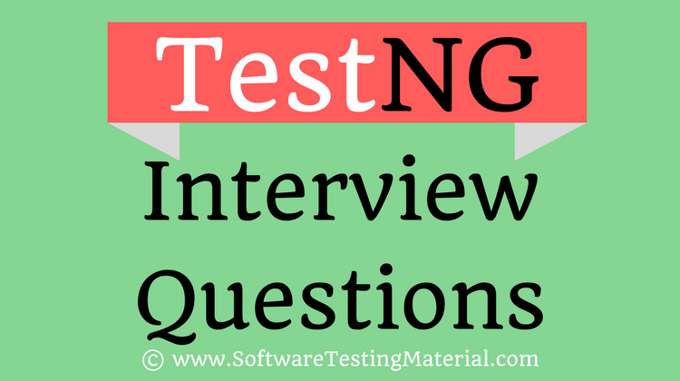 TestNG Interview Questions