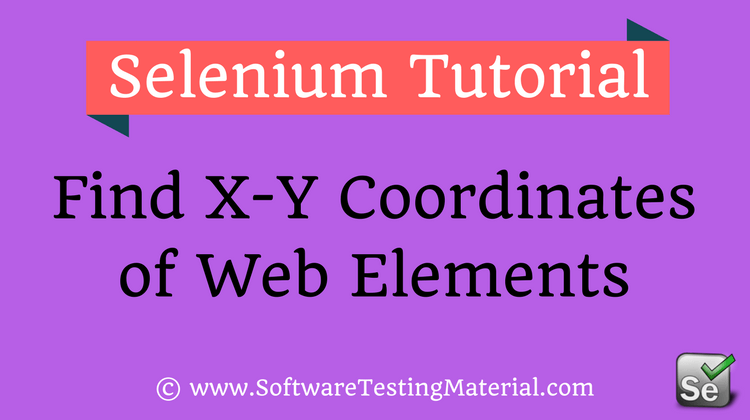 Web Elements X Y Coordinates Using Selenium