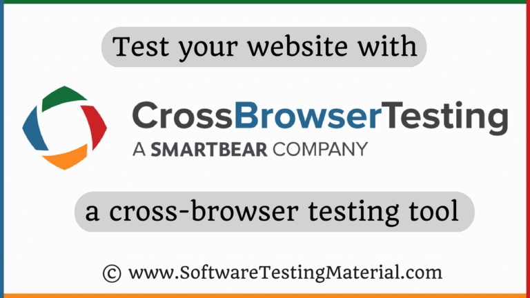 Cross-browser Testing using CrossBrowserTesting Tool | Review By STM