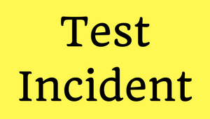 Test Incident