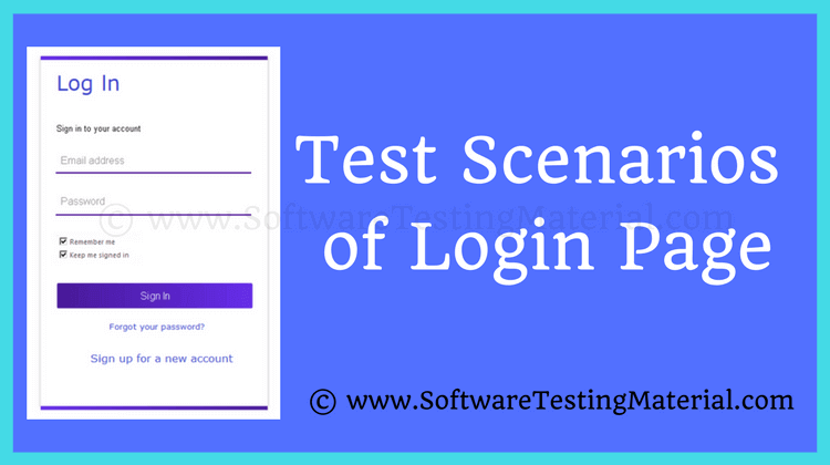 How to write Test Cases for a Login Page