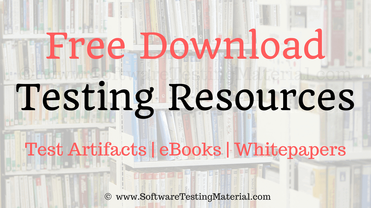 Testing Resources Free Download