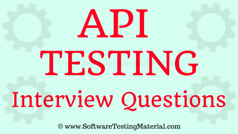 API Testing Interview Questions