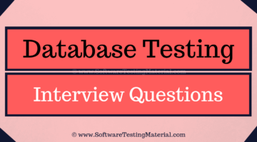 Database Testing Interview Questions