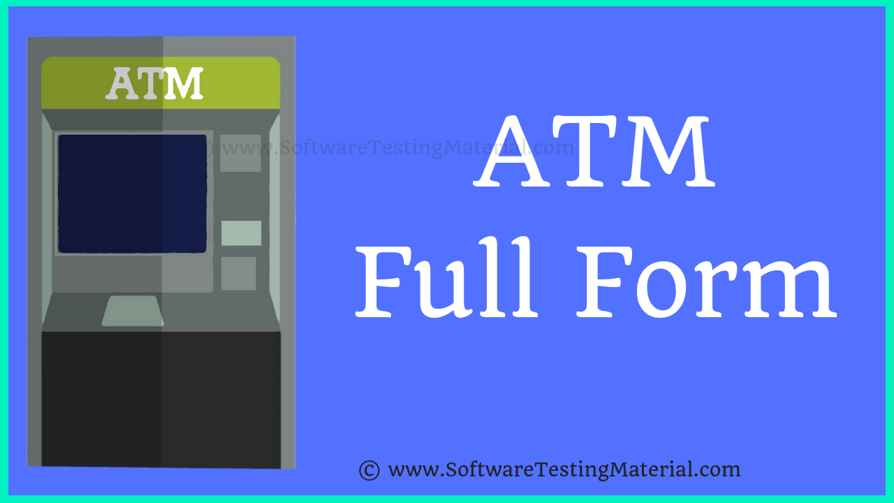 Atm meaning