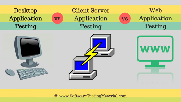 Difference between Desktop, Client Server And Web Application Testing