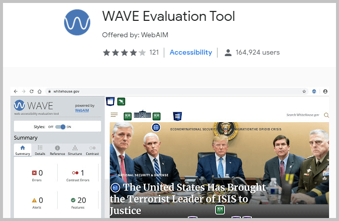 WAVE Evaluation Tool