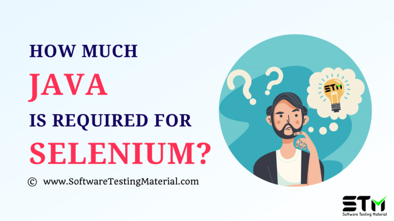 How much JAVA is required for Selenium?