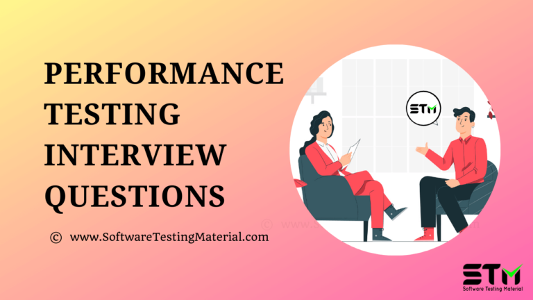 Performance Testing Interview Questions | Software Testing Material