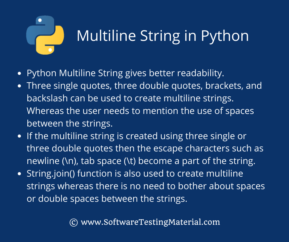 Multiline String in Python