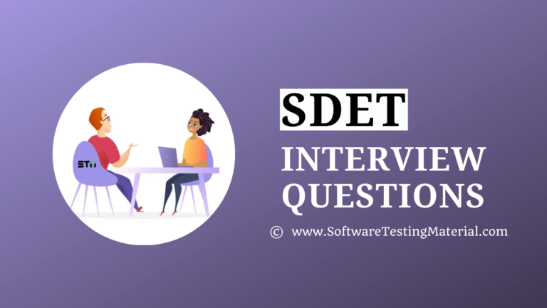 SDET Interview Questions And Answers