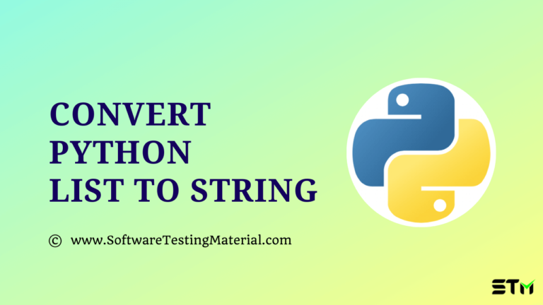 How to Convert Python List to String (4 Ways)
