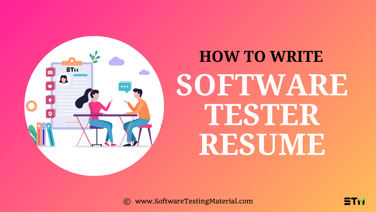 How To Write Software Tester Resume