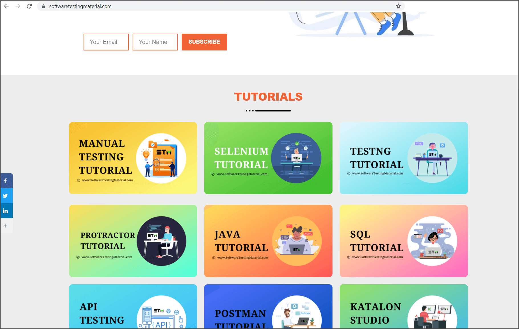 Software Testing Material Home Page