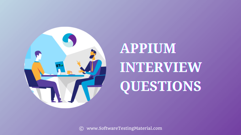Appium Interview Questions