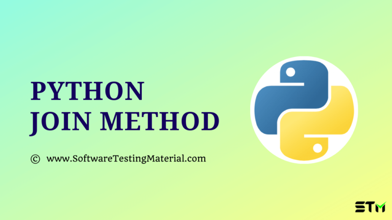 Python Join() Method with Examples